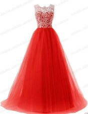 ❤Long Lace Evening Formal Party Ball Gown Prom Bridesmaid Dress Stock Size 6-22