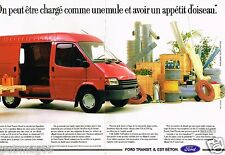 Publicité advertising 1988 (2 pages) Fourgon Camionnette Ford Transit Diesel