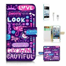 iPod Touch 6 iTouch 6 Flip Wallet Case Cover P2497 Girl