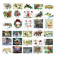 30 Personalized Return Address Christmas Birds Labels Buy 3 get 1 free (cs1)