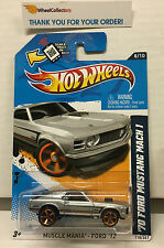 '70 Ford Mustang Mach 1 #118 * SILVER Toys R Us Only * 2012 Hot Wheels * G4