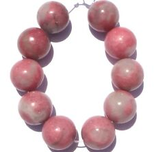 10 LARGE NATURAL PINK Strawberry Agate Round Beads 16mm K1025