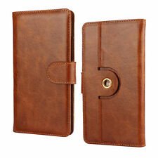 Swees Smartphone  - Genuine Leather Mobile phone degree case - Brown M