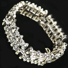 Trifari Philippe 'Jeweled Horizon' Criss Cross Diamante and Baguettes Bracelet
