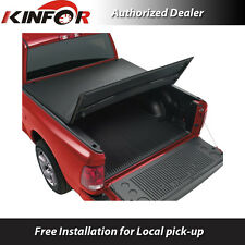 Premium Vinyl Tri-Fold Tonneau Cover for 2014-2016 Ford F-150 - 5.5' Bed
