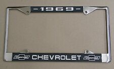 69 1969 Chevy car truck Chrome license plate frame