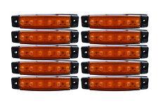 10 Pcs 12V Front Side Rear Marker Clearance ORANGE AMBER LED Lights Bus Truck