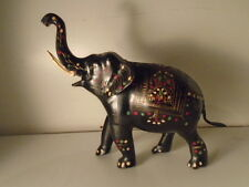 ANTIQUE VINTAGE BERGMAN ERA- QUALITY COLD PAINTED BRASS/BRONZE  ELEPHANT