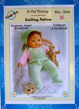 DOLLS KNITTING PATTERN no. 304 for BABYBORN.by Val Young (Daisy-May)