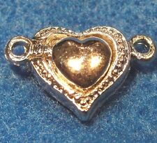 2Sets Tibetan Silver HEART  Beautiful ! MAGNETIC Clasps Connectors Hooks MC14