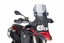 Puig Touring Windscreen for 2013-2016 BMW F800 GS Adventure Smoke / 7307H