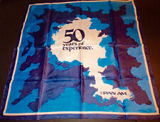Pan Am Airlines Stewardess Flight Attendant Vintage Scarf 50 years of experience
