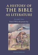 A History of the Bible as Literature: Volume 2, From 1700 to the Prese-ExLibrary
