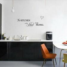 Removable Wall Stickers PVC Vinyl Quote Kitchen Home Mural Art DIY Decal Decor