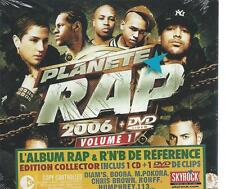 NEW & SEALED CD + DVD - PLANETE RAP 2006 vol 1  chansons Francaise