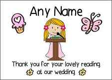 Thank You For Doing A Reading At Our Wedding Girl Personalised Print