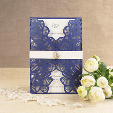 Intricate Orchid Laser Cut Gatefold Wedding Invitation - SAMPLE