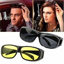 2 GOGGLES  HD VISION ANTI GLARE SUNGLASSES WRAP AROUND DAY & NIGHT DRIVING