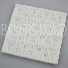 Alphabet Bunting A-Z Party Silicone Mould Flag Letter Mat Cake Cupcake Topper