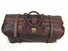 Vintage C & C Leather Bag Brown Duffle Travel Luggage Made in Italy