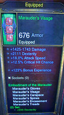 DIABLO 3 RoS XBOX 360 NEW MODDED DEMON HUNTER MARAUDER SET USE AT LVL 1