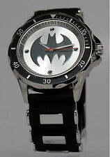 BATMAN: BULLET BAND BAT SYMBOL MEN'S WATCH IN GIFT BOX by ACCUTIME BAT9062