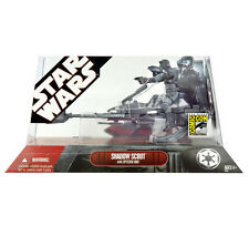 STAR WARS COMIC-CON Shadow Scout with Speeder Bike MIB
