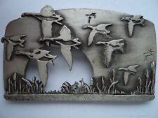 "Vintage Signed JJ ""Silver pewter Flying Geese"" Brooch/Pin"
