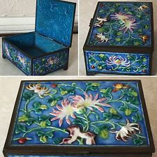 ANTIQUE CHINA CHINESE ASIAN 3-D ORIGINAL ENAMELED CASE JEWELRY BOX CLOISONNÉ
