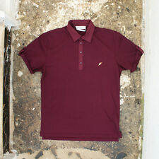 NEW Yves Saint Laurent Bordeaux Pique Polo T-Shirt GENUINE RRP: £350 BNWT - L