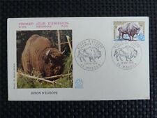 FRANCE FDC 1974 BISON BISONS WISENT WISENTE BUFALLO COVER c4521