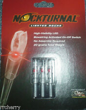@NEW@ 3-- NOCKTURNAL RED LIGHTED NOCKS NT-202 S BY RAGE ARCHERY