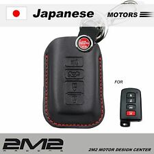 Leather Key fob Holder Case Chain Cover FIT For TOYOTA YARIS PRIUS HYBIRD CAMRY