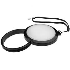 Mennon 43mm White balance lens cap WB with leash, NEW, in USA!
