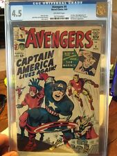 Avengers #4 CGC 4.0 (First Silver Age appearance of Captain America)