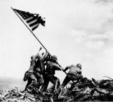 Flag Raising on Iwo Jima (February 23, 1945) Art Poster Print - 19x13