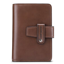 Casual Vintage Men Real Leather ID Document Holder Business Credit Card Case