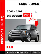 LAND ROVER DISCOVERY 3 2005 - 2009 4.0L 4.7L + 2.7 DIESEL FACTORY SERVICE MANUAL