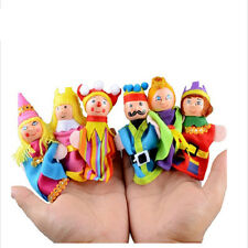 6pcs Finger Puppets Set Educational Animal Hand Puppet  Toy Kids Christmas Gift
