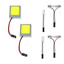 2PC T10 24 SMD LED Panel Interior Blanco Coche Auto Lights Lámpara Adaptadores
