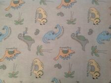 ~ FLANNEL ~ Dinosaurs~ Quilting ~ Fabric~Flannelette~ Grey~Brown~ Baby~Boys~FQ ~