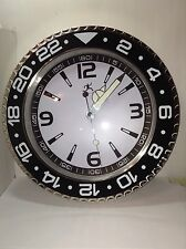 Infinity Instruments 14753BK-3776 Quartz Bazel Wall Clock Sports Watch Style.