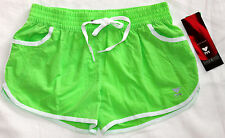 New TYR Women's Female Solid Splice LiIGHT GREEN Swim / Board Shorts - Medium