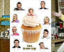 mrs browns boys party x24 edible stand up cup cake toppers wafer paper pre-cut