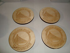 Golden State Warriors Custom Engraved Wood Coasters Set Of 4 NEW Bar