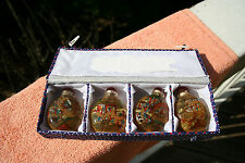 Chinese Snuff Bottles Set of 4 in a box - Reverse Paintings
