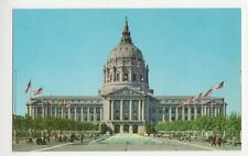 USA, San Francisco, City Hall & Civic Center Postcard, B232