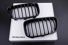 NEW GLOSS BLACK FRONT KIDNEY GRILLS for BMW F20 F21 1 SERIES 114d 116i 118d M135