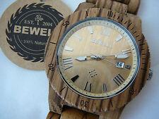 Orologio Bewell in legno di sandalo zebra - movimento Citizen
