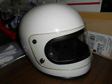 NOS Buco Vintage Retro Helmet White Full Face XL Extra Large 1754-4